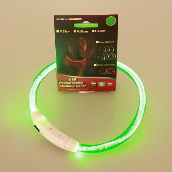 Haustiere LED-Kragen wiederaufladbare USB-Band Gürtel einstellbar blinkende Sicherheit Pet Dogs Collar Supplies Haustiere liefert