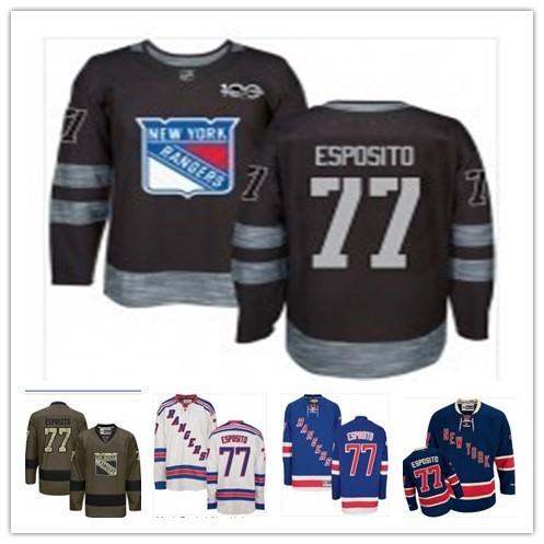 2019 hockey jersey NewYorkRanger Maglia Grigio Blue Gold 77 Phil Esposito Parayko donne degli uomini della gioventù