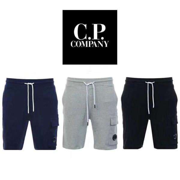 top popular One glasses CP COMPANY shorts cotton men short pants casual jogging shorts men CP pants size M-XXL 2019