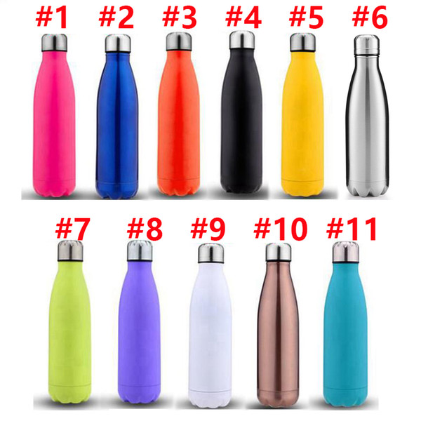 best selling Cola Shaped Bottle Insulated Double Wall Vacuum high-luminance Water Bottle Creative Thermos bottle Coke cups 17 oz