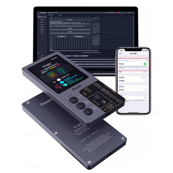 QIANLI iCopy sensore di luce vibratore strumento di recupero del programmatore Photosensitive originale strumento di riparazione del colore per iPhone 7/8/8 P / X / XR / XS / XS MAX