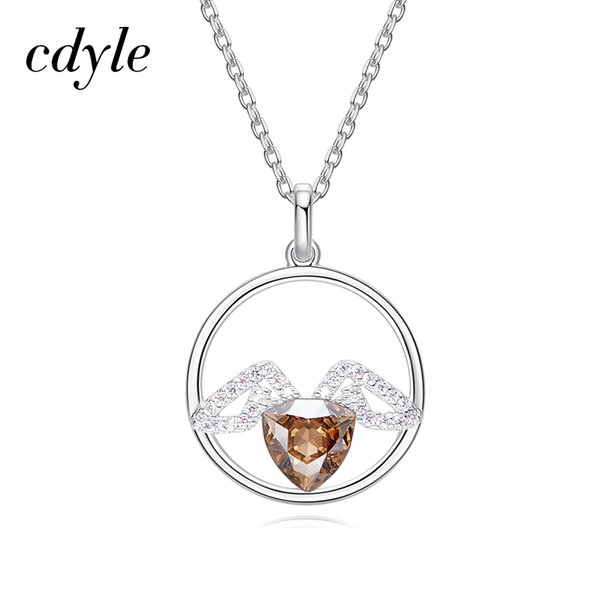 72c3b1bca242d Wholesale Wholesale Real 925 Sterling Silver Wings Gold Crystals From  Swarovski Women Necklaces &Amp; Pendants Fashion Jewelry Austrian  Rhinestone ...