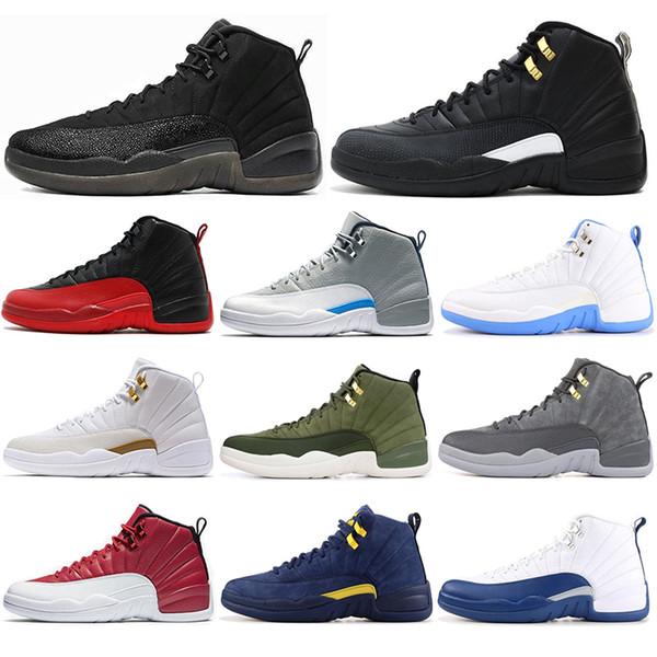 Nike air jordon 12 Avec des chaussettes 2019 12s Chaussures de basket pour homme hiverisé LE MASTER CNY WNTR FLU GAME université blue Bulls les maîtres hommes Baskets de sport