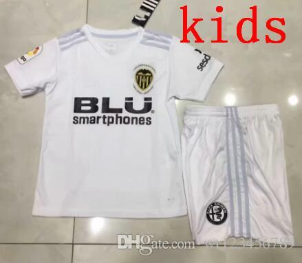 2018 19 kids FUTBOL Camiseta Valencia Golden Football Jersey kids kit Soccer Jerseys Chandal Valencia Jersey Valencia CF