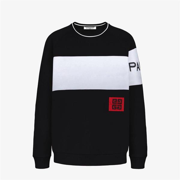 vogocm88 / Männer Hoodies Sweatshirts Marke Pullover Sweatshirts Marke Männer Pullover Langarm Brief Stickerei Mode Kleidung M-3XL