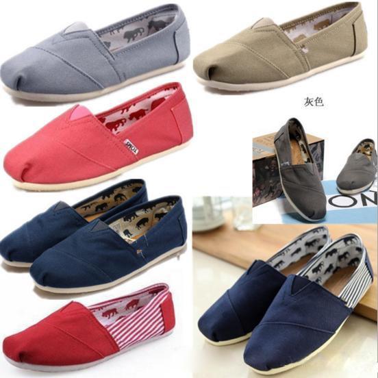 Tamanho 35-45 Nova Marca de Moda Mulheres Casuais Flats Sapatos Sneakers Mulheres e Homens um para um Sapatos de Lona mocassins casuais Sapatilhas Alpercatas
