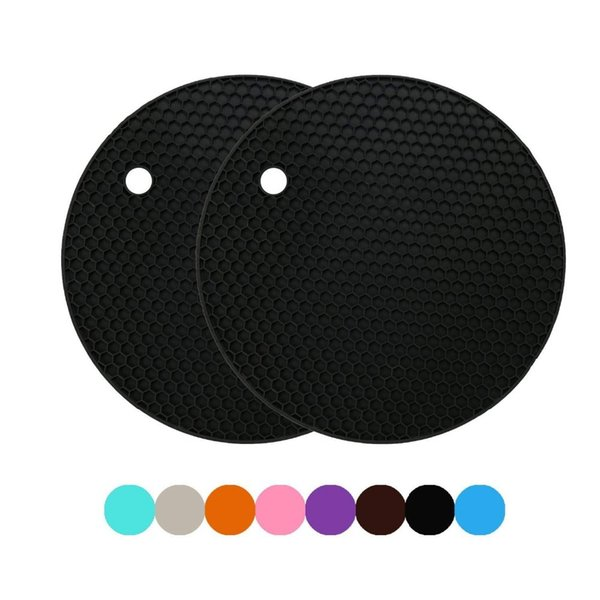 Multi-use Round Heat Resistant Silicone Mat Drink Cup Coasters Non-slip Pot Holder Table Placemat Kitchen Accessories C18113001