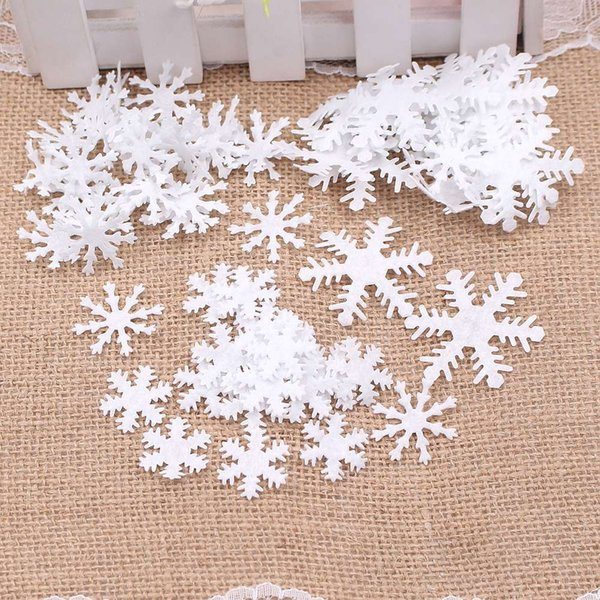 100pcs snowflake winter new year christmas snowflake children bedroom home glass window decoration diy scrapbook crafts