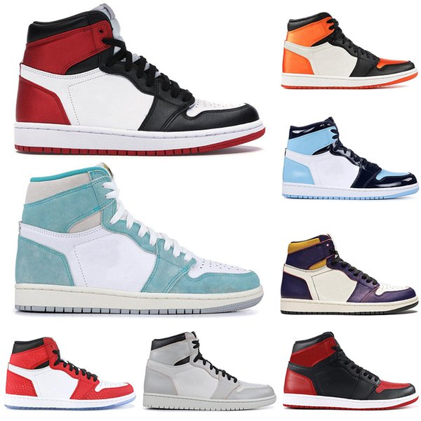good service get new low price sale 2019 2019 New AirJordanRetro 1 1s Satin Black Toe Basketball Shoes Men  Women UNC Mocha SPIDERMAN Chicago Mens Trainers Sports Sneakers From ...
