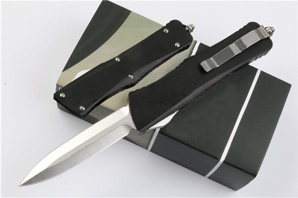 Двойной штраф двойного действия автоматический тактический спасательный нож 58-60HRC D2 лезвие алюминиевая ручка кемпинг снаряжение охота EDC ножи J36M Q