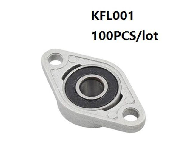 100pcs/lot KFL001 FL001 12mm zinc alloy bearing units pillow block bearings flange block bearing for CNC router parts