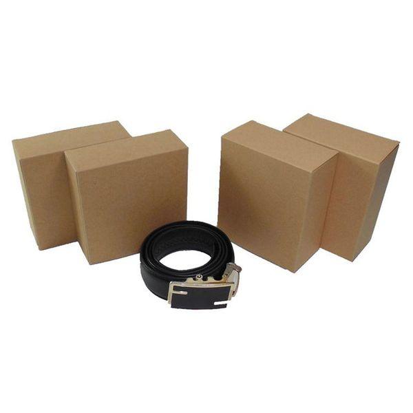 Blank Folding Belt Gift Box Universal Kraft Paper Men Male Buckle Belt Waist Strap Packaging Box ZC0603