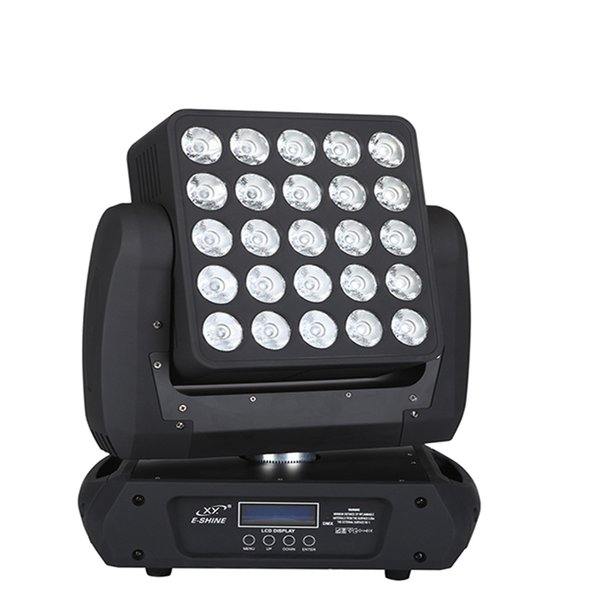 Hot sale moving head light 25*12w led matrix 5x5 dmx 25 stage blinder with ce rohs approved