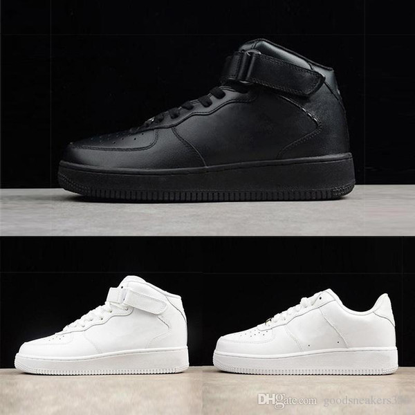 Brand 2019 discount one 1 dunk uomo donna Outdoor scarpe nero bianco alto basso Cut White Black Outdoor Trainer sneakers