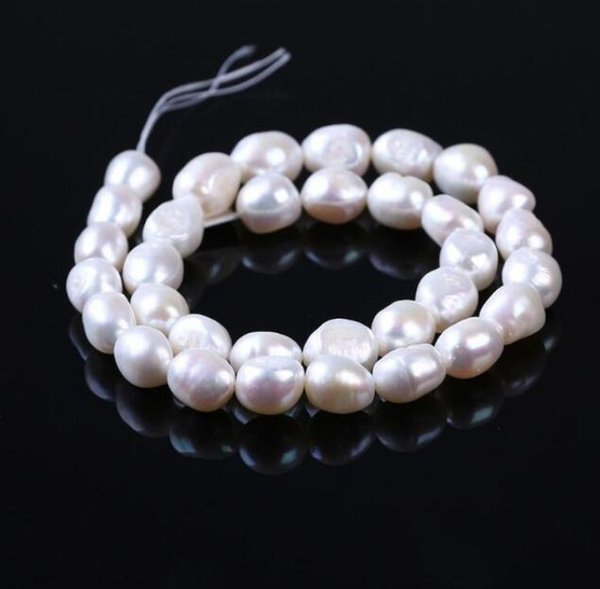 FREE SHIPPING 10pc Natural freshwater pearl necklace semi finished grade manufacturers wholesale direct marketing 10-11mm