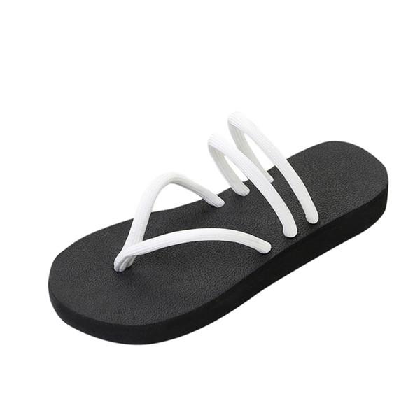 إسفين المرأة المتأرجح بلون رشة Slipsole أحذية الزيادة الوجه يتخبط الصنادل الشاطئ طويل القامة indooroutdoor النعال A40
