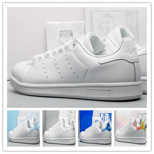 new styles a8bbc 537ad Stan Smith Shoes Designer Sneakers Brand Black White Classic Leather Men  Womens Shoes Runner Hiking Jogging Walking Outdoor Sport Shoes Hot Blue  Shoes ...