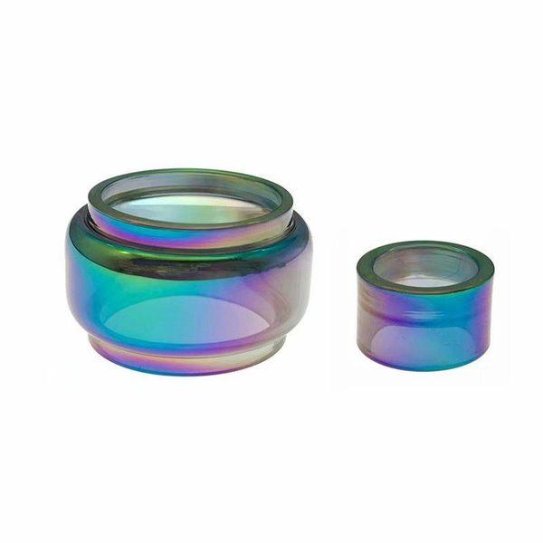 Neue Glas Ersatz Regenbogenrohr Tropfspitze Mundstück Große Kapazität Transparenz Für Stick V9 Max Kit Tank TFV8 Baby V2 Verdampfer