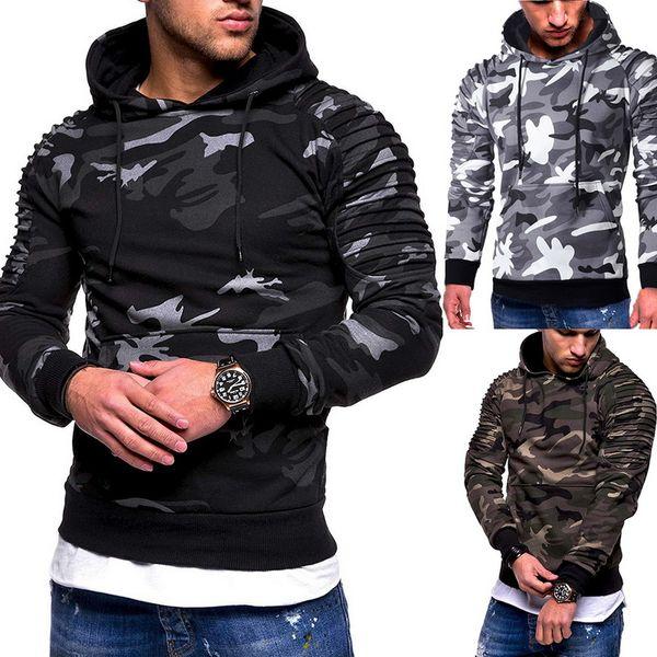 Homens F Camouflage fresco Hoodies 6 cores Magro camisola Masculino Camo Hoody Hip Hop Outono-Inverno Hoodie Militar Tamanho 3XL For Men