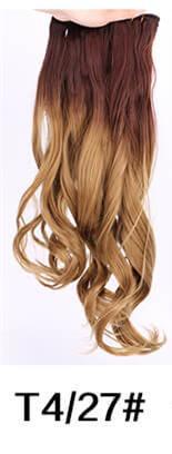 T4 / 27 natürliche Welle 3pcs Haar