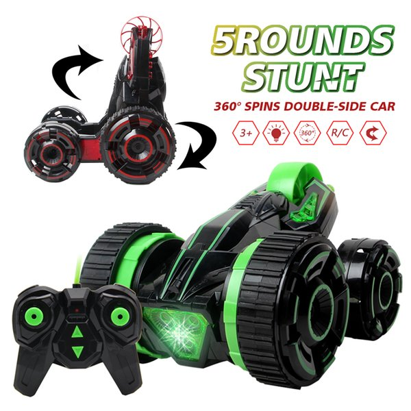 2017 Rc Car 6ch 5 Wheels Spinning Buggy Cars Fast Rotation Crawlers Rc Drift Flashing Stunt Car With Radio Remote Control Car !!!