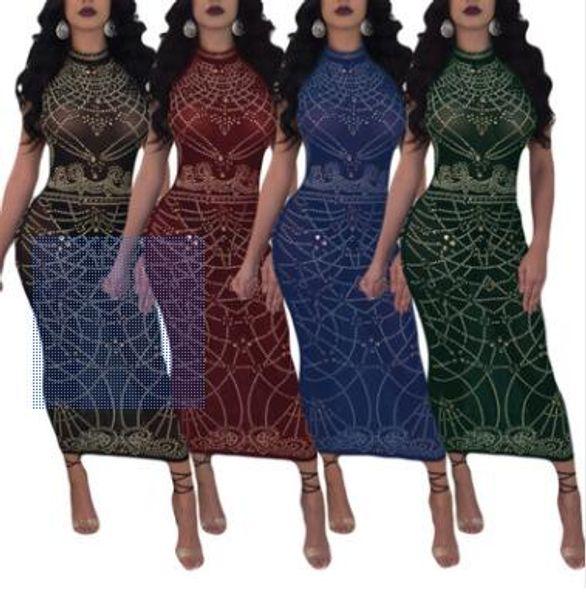 Sommer Europa und Amerika heißen Stil Mode sexy Perspektive Kleid drucken
