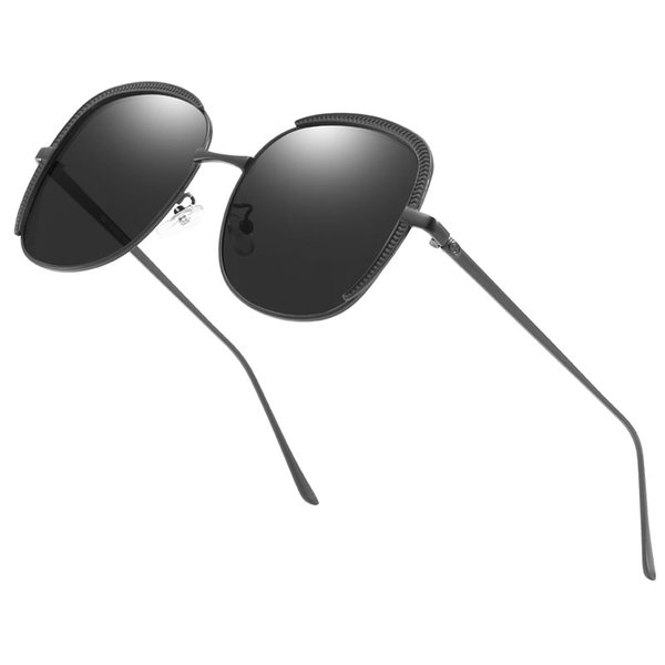 High-end fashion Europe and America men and women sunglasses men and women big box couple round face sunglasses brand designer sunglasses