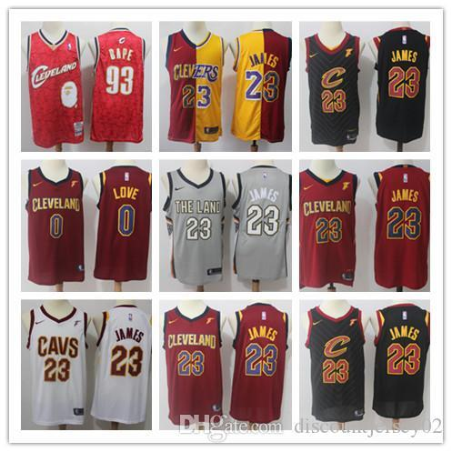 best loved d939f c1428 2019 2018 Cleveland 23 LeBron James Jerseys Men The Land Edition Basketball  0 Kevin Love Smith CLE Cavaliers Playoffs Jersey From Qualityjersey03, ...