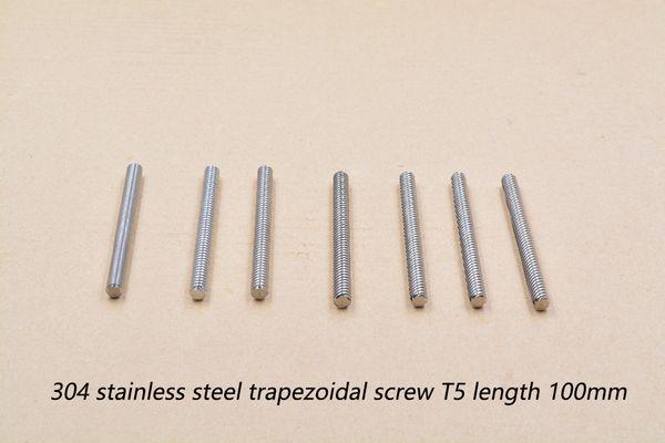 3d drucker schrauben t5 schraube durchmesser 5mm länge 100mm blei 1mm 2mm 4mm 304 edelstahl trapezschraube 1 stück