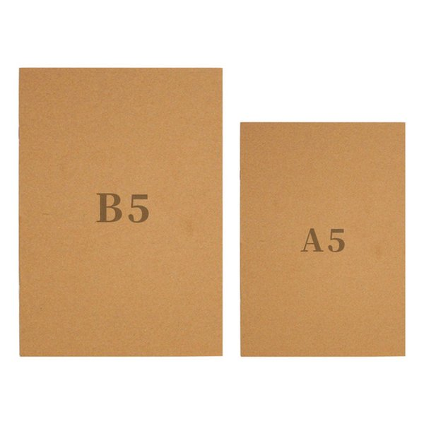 B5 Kraft Notebook Paper Hand Copy Cover Notepads Blank Stitch Notepad kraft Cover Notebooks Daily Paper Journal Stationery DHL