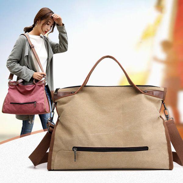Frauen multifunktions leinwand handtaschen große kapazität weibliche umhängetaschen hochwertige dame vintage große tote casual satchels