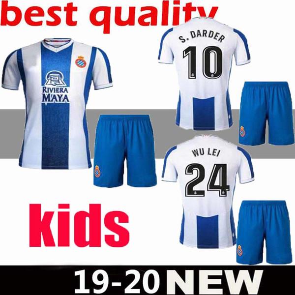 Kids kit Adult 19 20 La Liga RCD Espanyol jersey home IGIESIAS football jersey Top Thailand Quality P.PIATTI BAPTISTAO Spanish soccer jerse