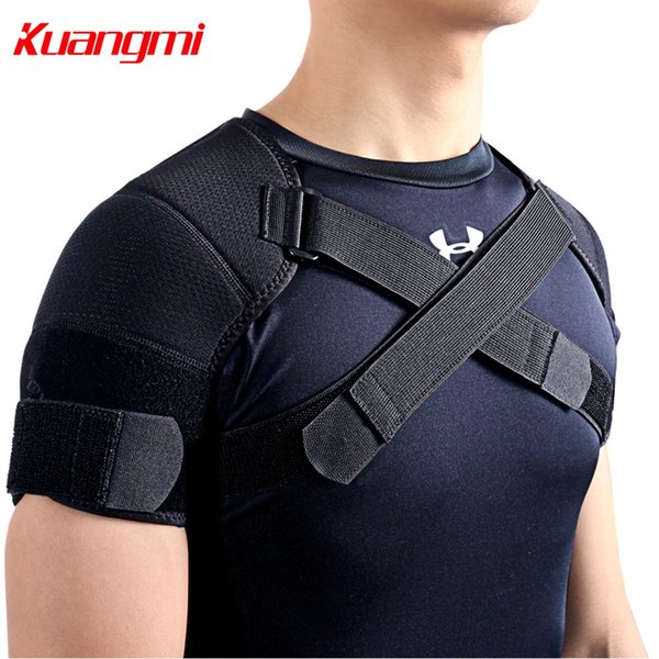 Kuangmi 7K-foam Double Shoulder Brace Adjustable Sports Shoulder Support Belt Back Pain Relief Double Bandage Cross Compression #17945
