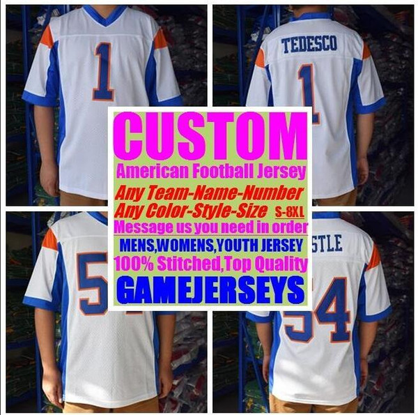 best selling 2019 Personalized american football jerseys college cheap authentic rugby retro sports jersey stitched men womens youth kids 4xl 5xl 6xl 7xl