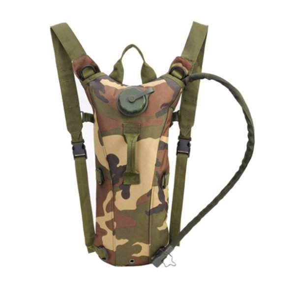 top popular 3L Outdoor Survival Water Bag Pouch Backpack Geometric Zipper Cycling Climbing Hiking Interior Compartment Bag 2019