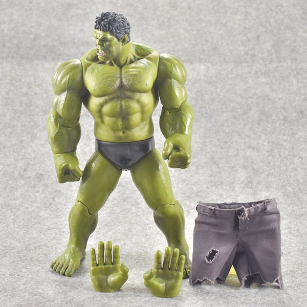 Kids Toys Avengers Super hero hulk movable action figure toys Christmas gift Removable Real Trousers Joints Movable 22cm
