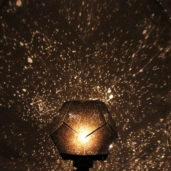 Romantische Partei Astro Stern-Himmel-Projektions-Kosmos Nachttischlampe Sternennacht 12 Konstellationen Liebhaber Schlafzimmer-Dekor-Beleuchtung Gadgets