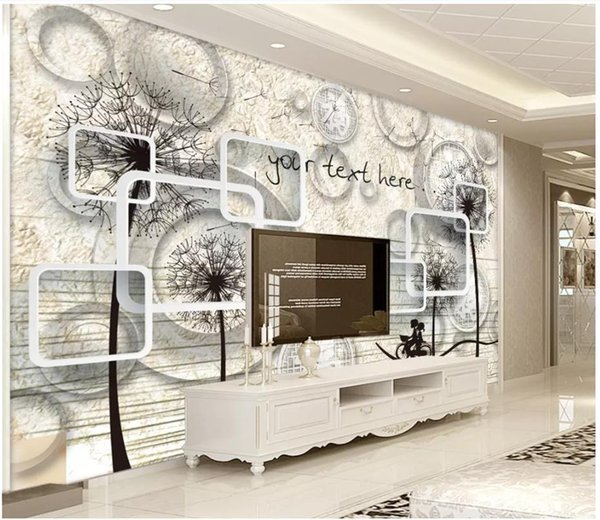 3d wall paper custom photo Silk wallpaper mural 3d vintage marble minimalist hand drawn TV background wall decorative painting