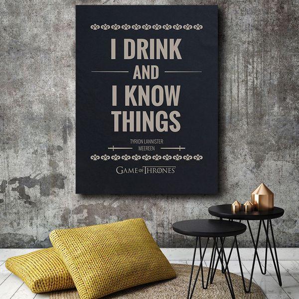 Großhandel Game Of Thrones Tyrion Lannisters Zitat Leinwand Malerei  Wandbild Poster Und Druck Dekorative Wohnkultur Von Iwallart, $8.06 Auf ...