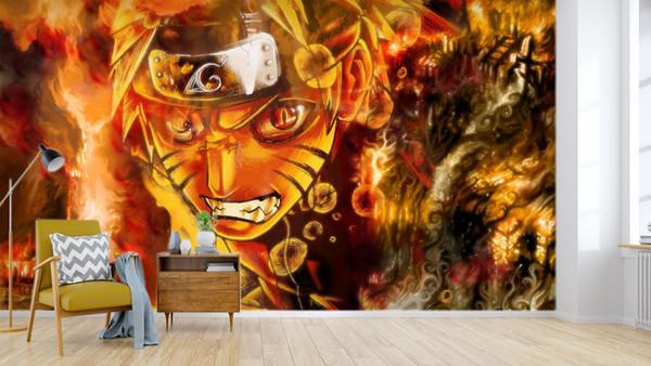 [Self-Adhesive] 3D Narut 934345 Japan Anime Wall Paper mural Wall Print Decal Murals