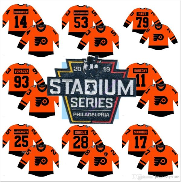 Personnalisé 2019 Flyers de Philadelphie Stadium Series Maillot Couturier Giroux Gostisbehere Voracek Simmonds Konecny van Riemsdyk Hart Hommes Jeune