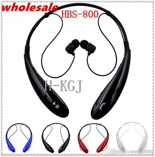 Heißer drahtloser Stereo-Kopfhörer HBS-800 Bluetooth, Ton ultra HBS800 trägt Inohrknospen bluetooth Nackenbügelkopfhörer für intelligente Telefone zur Schau