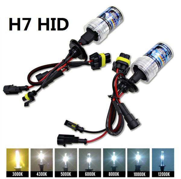 2pcs Xenon H7 HID Conversion Kit 12V 24V 35W 55W HID Bulb Auto Car Headlight Lamp 3000k 4300k 5000K 6000k 8000K 12000K