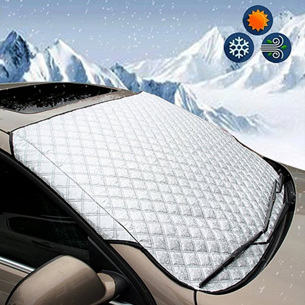 top popular SUV Universal Car Windshield All Weather Snow Cover & Sun Shade Protection Cover Fits Most of Car Window Mirror Protector 2020