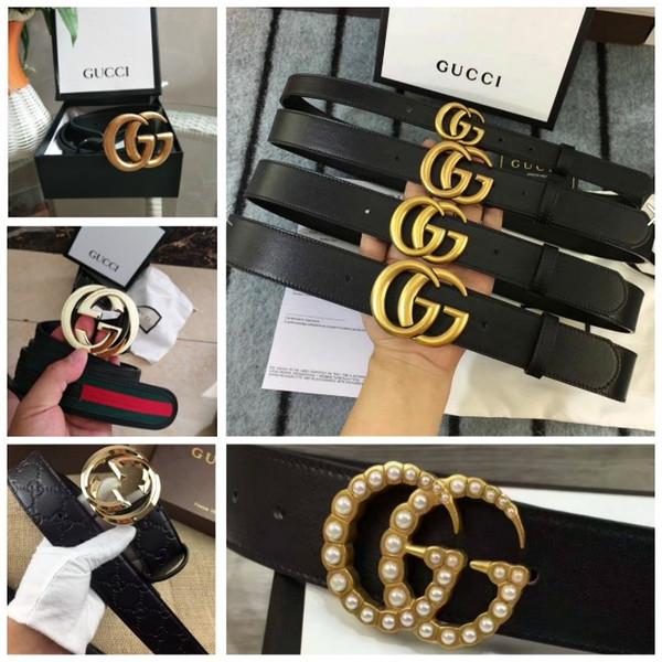 2019 caldo nero di vendita di colori 4 modelli delle donne Cintura in pelle con cristalli a doppia fibbia donne stili Riem ceinture per il regalo con la scatola come regalo 3688