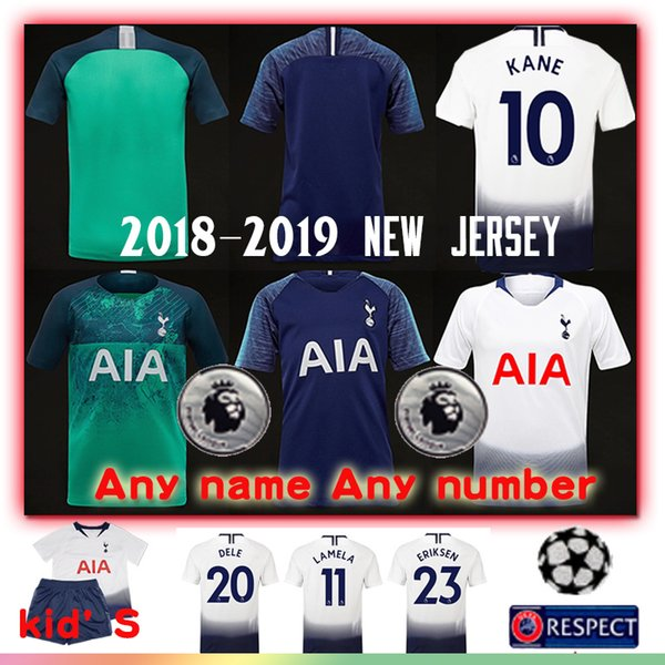 7 Son spur Men kid's soccer jersey 10 KANE 2018-2019 new 19 DEMBELE 13 VORM Top Quality football jersey