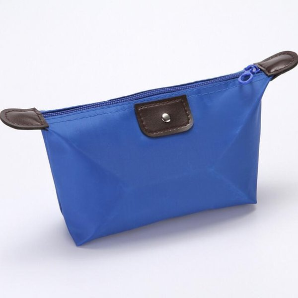 wholesale New Large capacity portable cosmetic case bags Ms. travel large wash bag women Blue waterproof nylon storage bag Free shipping