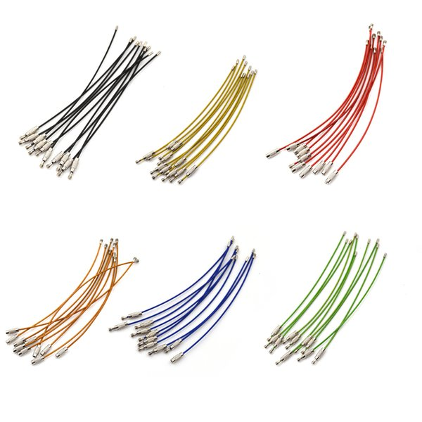 10pcs/lot Key Chain Rings Stainless Steel Wire Hooks 6 Colors Cable Rope Key Holder Bag Parts Accessories