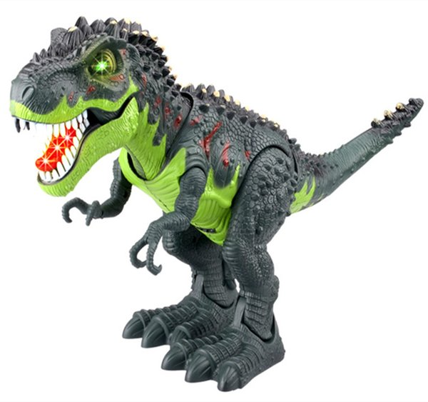 wholesale Educational Toys Walking Electric Dinosaur Robot Toys with Music Light Walk Sounds Model Toys For Children Gift