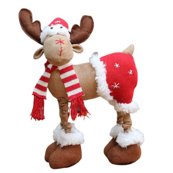 Home Elk Style Splice Party Bedroom Decorative Washable Atmosphere Christmas Doll Lint Ornaments Children Gift Durable Desktop